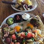 Huevos rancheros and eggs benny