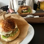 Chicken and beef burger 🍔
