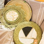 Natural fibre mirrors and trays
