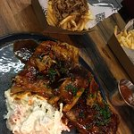 baby back ribs and porky-fries