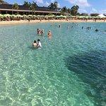 A praia é uma piscina!