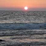 Sun set in my village