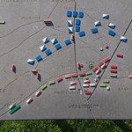 Tavla som visar en del av krigets förlopp