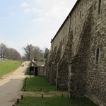 To the left , Knole park as you walk round the outside walls