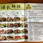 Special noodles soup & congee menu