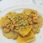 Ravioli gamberetti e pistacchio