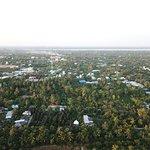Vista aérea de la zona del hotel