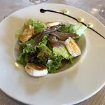 Goats cheese and anchovy salad