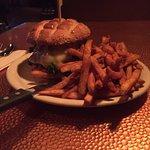 Mushroom n Swiss burger