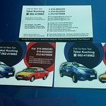 This is my name Card, please Call or Whatsapp me if you need CAR CHARTER service or taxicab