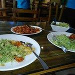 khao pad khara pao, bakchoi delight squid