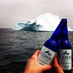 Serving local, Quidi Vidi Iceberg Beer onboard. Made from 12,000 year old iceberg water. Experience the ancients ... your memories will last a lifetime! These blue bottles are extremely popular with our guests. Many a times the empties depart with our Iceberg Questers.