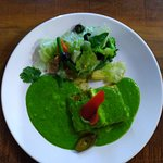 Cottage Cheese Spinach in Pesto Sauce