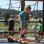 Sky Tykes Challenge Course at Rush Mountain Adventure Park, Home of Rushmore Cave.