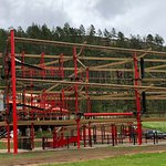 Wingwalker Challenge Course at Rush Mountain Adventure Park, Home of Rushmore Cave.