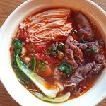 HOT AND SPICY BEEF AND ENOKI MUSHROOM COOKING POT