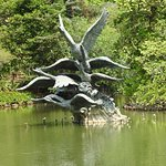 The Swan sculpture in the main Lake