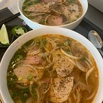 Traditional Bun Bo Hue ( spicy beef soup)