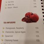 Tea Break - menu