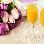 Enjoy complimentary bottomless mimosas!