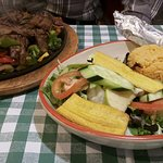 Dinner fajita plate (at lunch!)