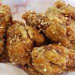 Crispy fried chicken honey butter