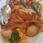 Fischmenü mit Reis und Suppe 23.80