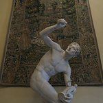 Sculpture and tapestry.