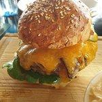 American Burger close-up.