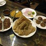 Dal, paratha, Galawati and shame kebab