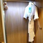 Closet with robe
