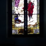Stained glass window in chapel