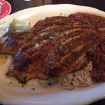 Blackened Tilipia with red beans and rice