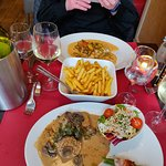 Varkenshaasje met champignons en kabeljauw op Oostendse wijze !