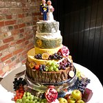 One of our cheese wedding cakes