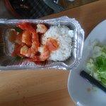 Et en enlevant la salade , voici réellement la portion digne d'une entrée mais pas d'un vrai pla