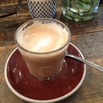 Latte - coffee was excellent, strong yet smooth, with thick and creamy frothy milk.