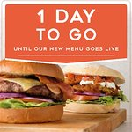 Just one day til the brand new menu arrives....  It looks and tastes great..  Come down to try it
