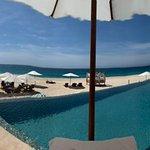 Panoramic of pools and beach