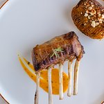 Rack of Lamb served with roasted Cappadocia potatoes, flavored with village butter, çömlek (potted) cheese and powdered pastrami