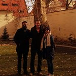 Sunny day with my clients on a private tour in Prague - Little Quarter - by Lennon Wall.
