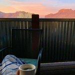 Morning coffee sunrise