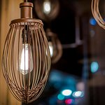 whisk light fixtures / bakery & pickle icon in front window