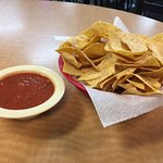 Big bowl of complimentary Salsa & Chips