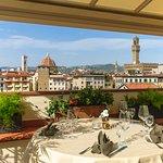 Panoramic view on Florence. Wine Bar Restaurant