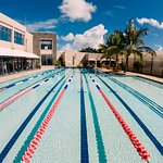 Semi Olympic Pool with Swimming lessons and special Aquagym classes.
