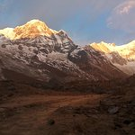 sunrise at mt Annapurna south