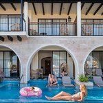 Swim up junior suites have direct access to a private pool