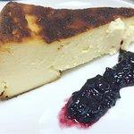 Tarta de queso con confitura de Arandanos casera
