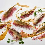 Steamed yellow croaker fish with pork lard and ginger